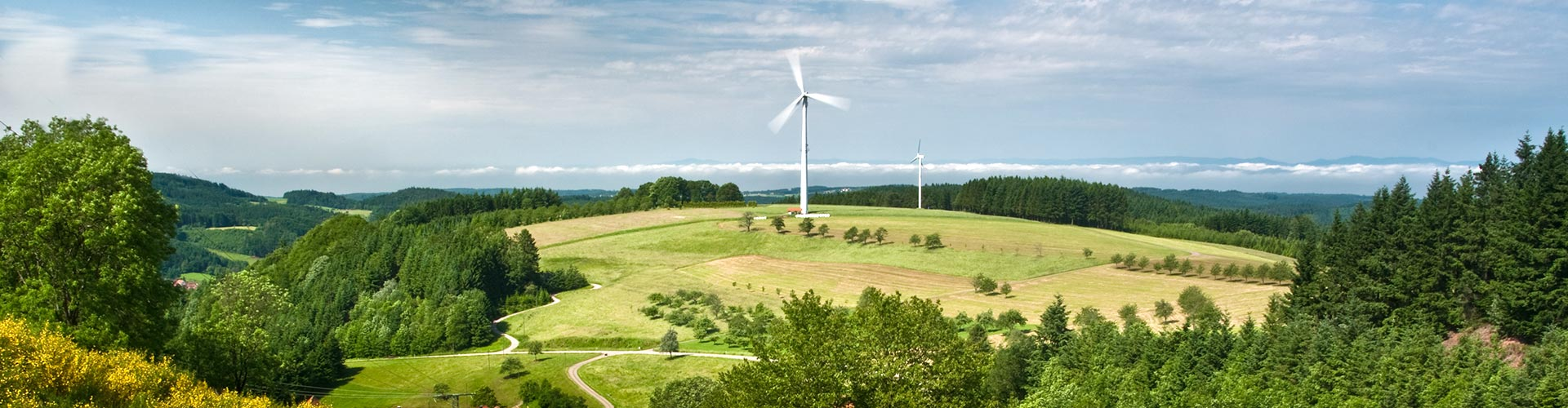 Windenergieanlage am Geisberg (Schuttertal) im mittleren Schwarzwald. Foto: Michael Sauer