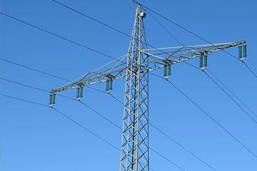 Strommasten mit einer Leitungsebene sind breiter und benötigen daher einen breiteren Schutzstreifen | Foto: NABU Neumünster